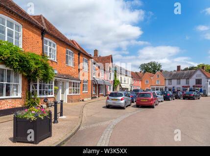 The Market Place, Lavenham, Suffolk, England, UK - Stock Photo
