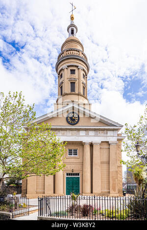 St James Concert and Assembly Hall & the Dorey Centre in the former garrison church of St James-the-Less, St Peter Port, Guernsey, Channel Islands UK - Stock Photo