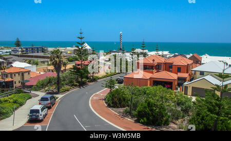 Beautiful view over Bunbury in Western Australia on a sunny summer day - Stock Photo