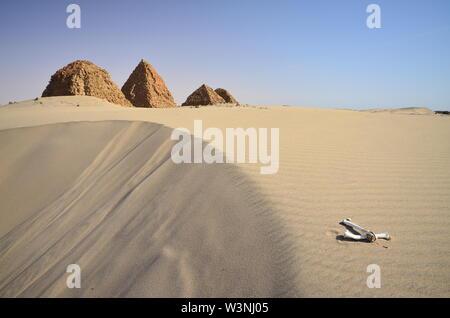 Necropolis of Nuri in Sudan - Stock Photo