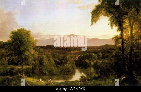 Cole Thomas View on the Catskill Early Autumn 1837. - Stock Photo