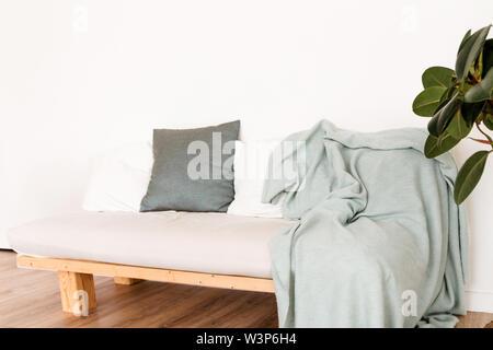 Magnificent White Sofa In Modern Scandinavian Design With Light Blue Dailytribune Chair Design For Home Dailytribuneorg