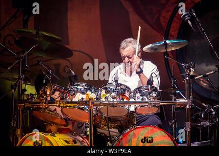 © Stefano D'Offizi - Nick Mason's Saucerful of Secrets @Rock in Roma Summer Fest // Auditorium parco della Musica - 2019 - www.rockerilla.com - Stock Photo
