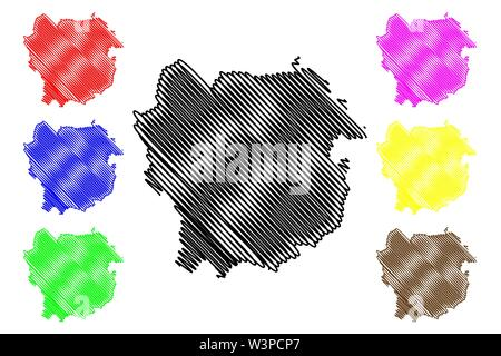 Kayes Region (Regions of Mali, Republic of Mali) map vector illustration, scribble sketch Kayes map - Stock Photo
