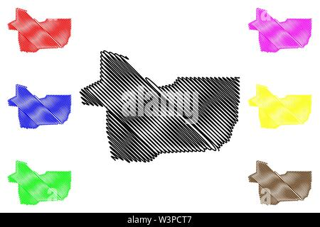 Gao Region (Regions of Mali, Republic of Mali) map vector illustration, scribble sketch Gao map - Stock Photo