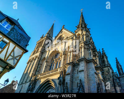 Saint Pierre cathedral of Vannes, Morbihan department, Bretagne, France - Stock Photo