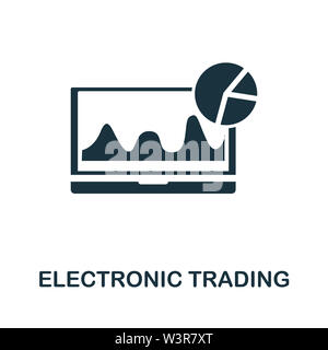 Electronic Trading icon illustration. Creative sign from investment icons collection. Filled flat Electronic Trading icon for computer and mobile. Sym - Stock Photo