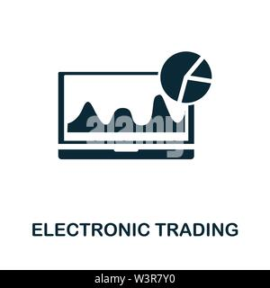 Electronic Trading vector icon illustration. Creative sign from investment icons collection. Filled flat Electronic Trading icon for computer and mobi - Stock Photo
