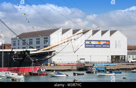 Portsmouth Historic Dockyard, Portsmouth, Hampshire, UK - Stock Photo