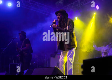 Aswad performing on Stage 2, on Day 2 of the OnBlackheath Music Festival 2019 - Stock Photo