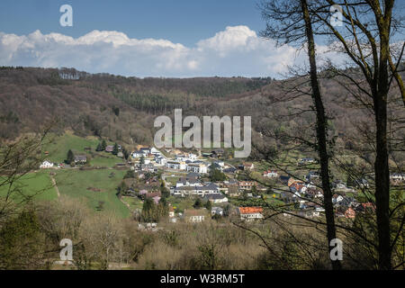 Early spring time near Echternach, Luxembourg - Stock Photo