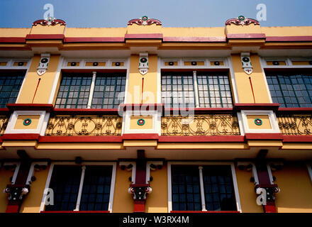 Colonial building in Intramuros in Manila in Luzon Metro Manila in the Philippines in Southeast Asia Far East. - Stock Photo