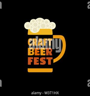 Craft Beer Festival hand drawn flat color vector icon - Stock Photo