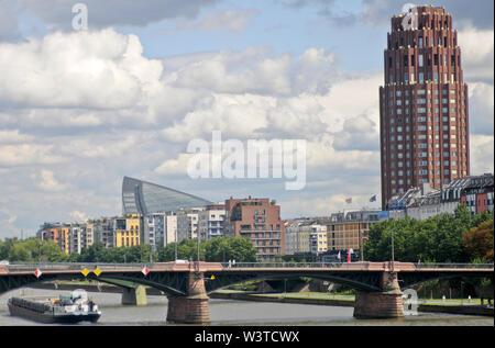 Lindner Hotel & Residence Main Plaza. Frankfurt, Germany - Stock Photo