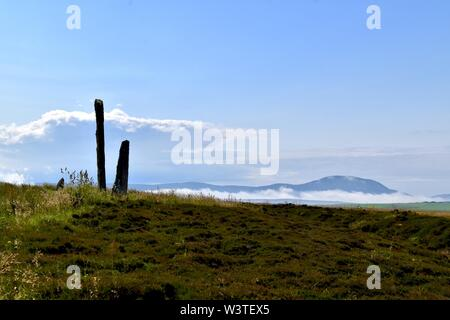 Standing stones at the Ring of Brodgar on Orkney. - Stock Photo