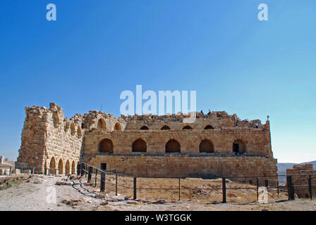 The historic crusader castle in al-Kerak, Jordan - Stock Photo