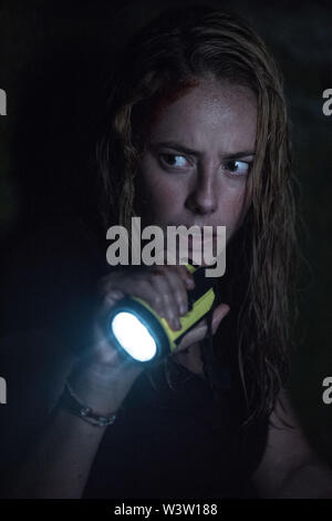 RELEASE DATE: July 12, 2019 TITLE: Crawl STUDIO: Paramount Pictures DIRECTOR: Alexandre Aja PLOT: A young woman, while attempting to save her father during a Category 5 hurricane, finds herself trapped in a flooding house and must fight for her life against alligators.. STARRING: KAYA SCODELARIO as Haley. (Credit Image: © Paramount Pictures/Entertainment Pictures) - Stock Photo