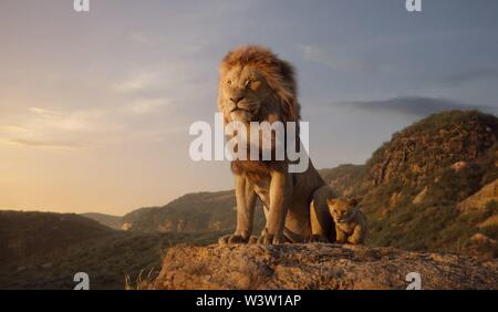 RELEASE DATE: July 19, 2019 TITLE: The Lion King STUDIO: Disney DIRECTOR: Jon Favreau PLOT: After the murder of his father, a young lion prince flees his kingdom only to learn the true meaning of responsibility and bravery. STARRING: James Earl Jones as Mufasa (voice). (Credit Image: © Disney/Entertainment Pictures) - Stock Photo