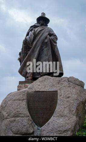 Roger Conant statue in Salem Massachusetts - Stock Photo