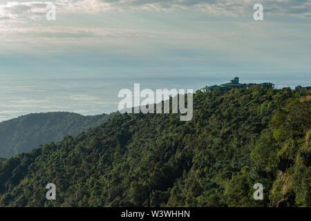 Distant view of bangladesh plains near Cherrapunjee,Meghalaya,India Stock Photo