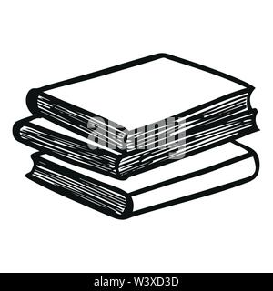 Stack of Books. Vector illustration - Stock Photo