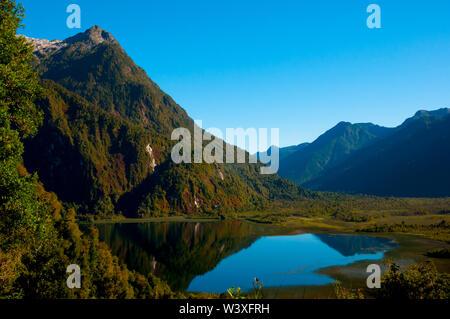 Hornopiren National Park - Chile - Stock Photo