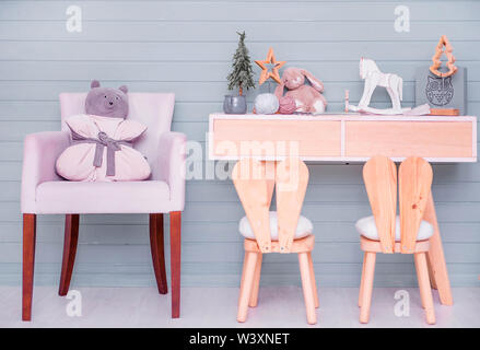children's room decor in the New Year's style - Stock Photo