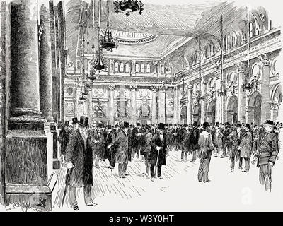 The Royal Exchange, Manchester, England, UK, 19th century - Stock Photo