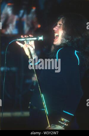 DEEP PURPLE UK rock group with  Ian Gillan  at Long Beach Arena on November 20, 1974 in Long Beach, California. Photo: Jeffrey Mayer - Stock Photo