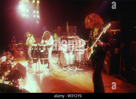 DEEP PURPLE English rocvk group with  Jon Lord, Roger Glover, Ian Gillan, Ian Paice and Ritchie Blackmore   at Long Beach Arena on April 15, 1973 in Long Beach, California. Photo: Jeffrey Mayer - Stock Photo