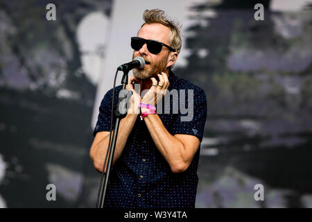 The National performs live on stage during British Summertime at Hyde Park on 13th July 2019 in London, England - Stock Photo