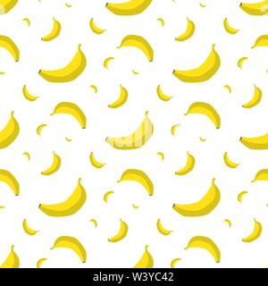 Banana seamless pattern - Stock Photo