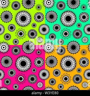 creative indian decorative design seamless pattern background vector - Stock Photo