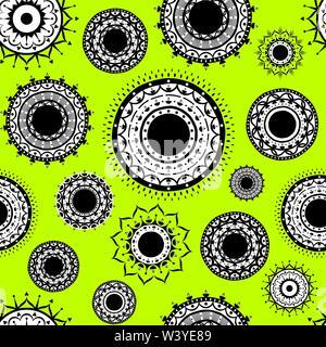 indian decorative design seamless pattern - Stock Photo