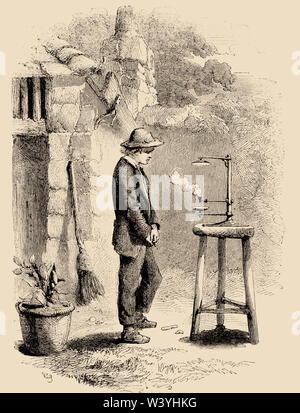 Sir Humphrey Davy, 1778-1829. English chemist and inventor.  Inventor of the Davy lamp. - Stock Photo