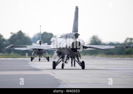 Supersonic multirole fighter aircraft General Dynamics F-16 Fighting Falcon in Gdynia, Poland. July 13th 2019 © Wojciech Strozyk / Alamy Stock Photo