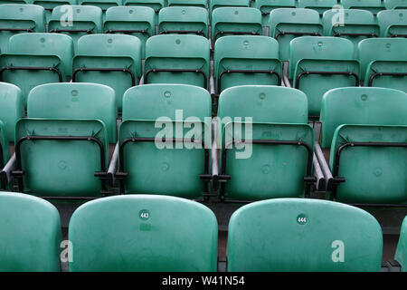 General view of empty seats ahead of Essex CCC vs Yorkshire CCC, Specsavers County Championship Division 1 Cricket at The Cloudfm County Ground on 7th - Stock Photo