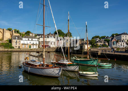 Auray. The harbour. Morbihan. Bretagne. France - Stock Photo