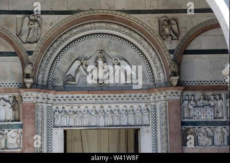 Italy, Tuscany, Lucca, San Martino cathedral - Stock Photo