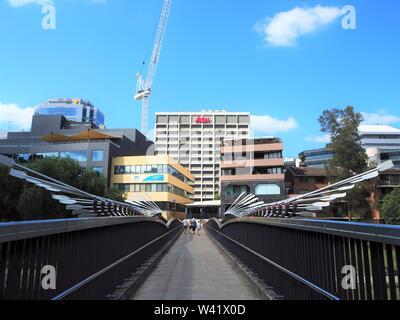 Elizabeth Street Footbridge, Parramatta - Stock Photo