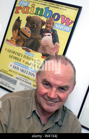 The late Roy Skelton who was the voice of George and Zippy in the TV show Rainbow. Roy also wrote and directed some of the programmes. Roy also did many of the Dr Who voices including the Darleks. Roy retired to a seafront home in Brighton - Stock Photo