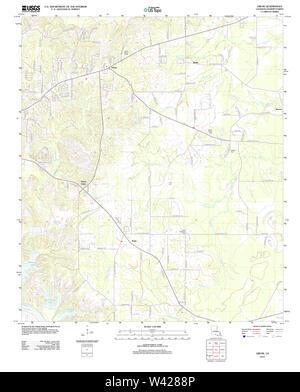 USGS TOPO Map Louisiana LA Libuse 20120405 TM - Stock Photo