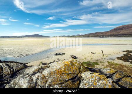 The Beach at Low Tide, Seilebost, West Harris, Scotland, uk - Stock Photo