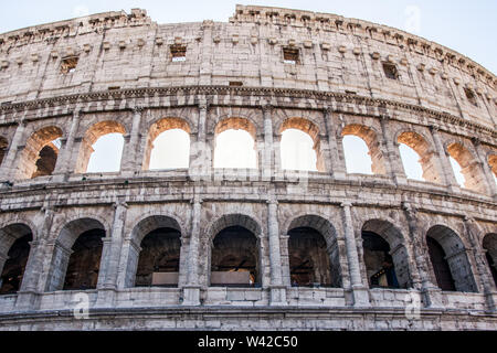 Closeup shot of Colosseum in Rome - Stock Photo