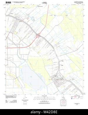 USGS TOPO Map Louisiana LA Lockport 20120326 TM - Stock Photo