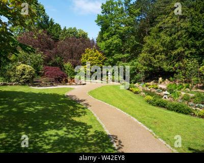 The Japenese Garden in summer in Valley Gardens Harrogate North Yorkshire England
