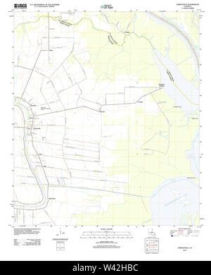 USGS TOPO Map Louisiana LA Loreauville 20120423 TM - Stock Photo