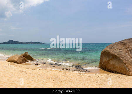 With its golden sands, Lamai Beach on Koh Samui island is one of the best tropical destinations in Thailand - Stock Photo
