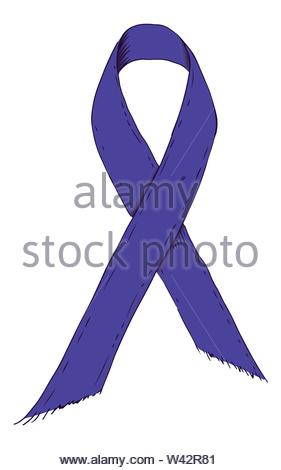 Violet ribbon symbol. Sketch-Style Icon. Symbol. Sign. Stock Vector Illustration. Transparence White Isolated - Stock Photo