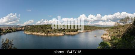 Beautiful landscape located in the town of Buitrago de Lozoya - Stock Photo